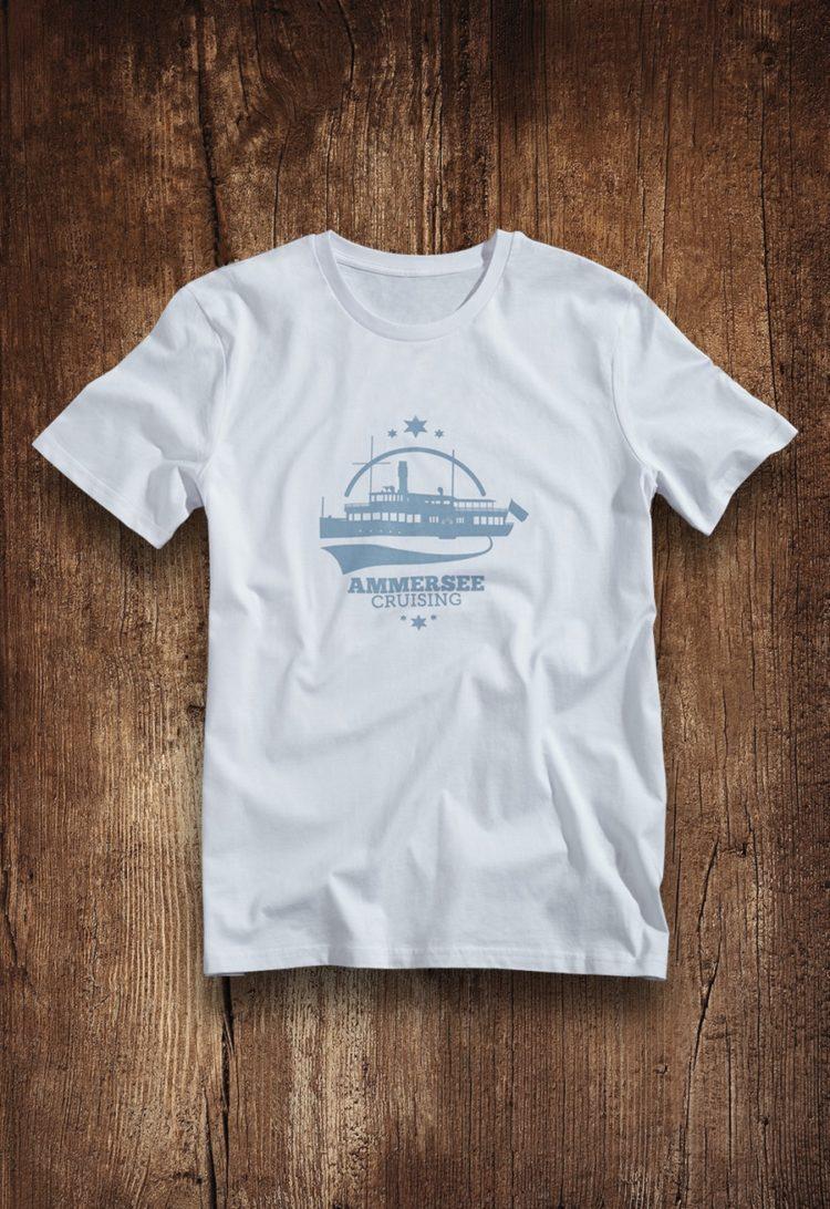 Ammersee Dampfer T-shirt Herren von Ammersoul