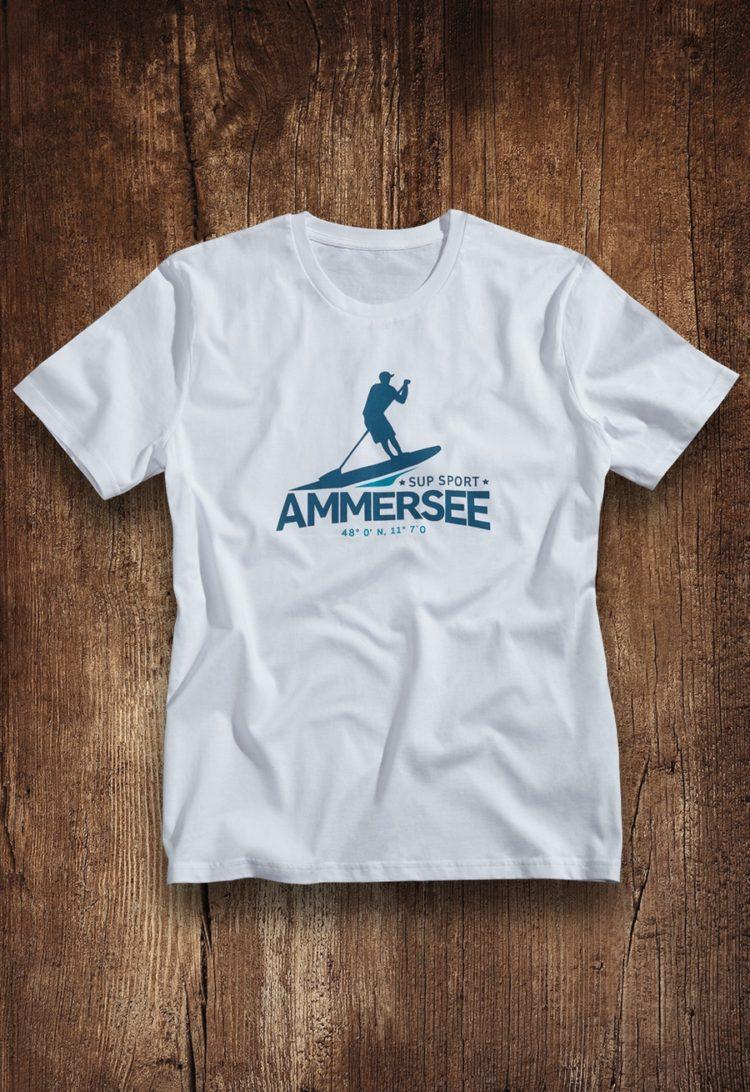 Ammersee SUP T-shirt Herren von Ammersoul
