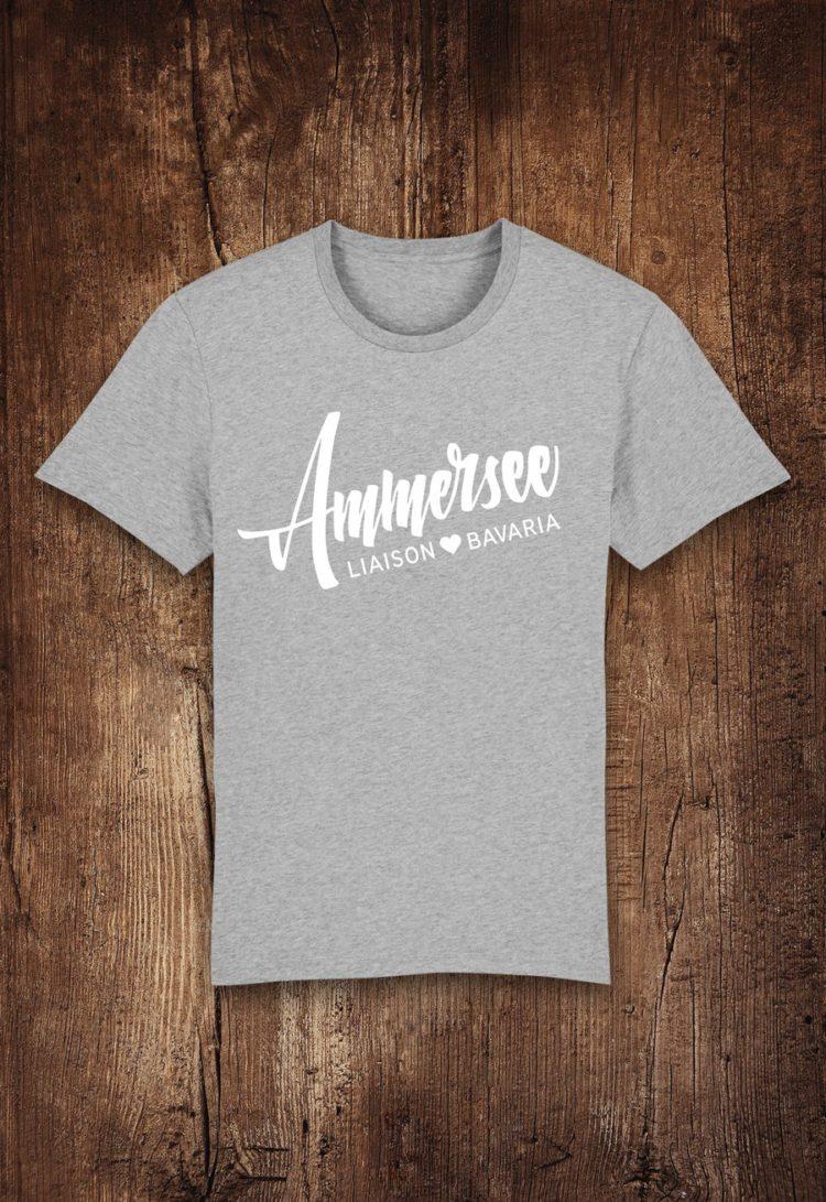 Ammersee T-shirt Herren in Grau von Ammersoul