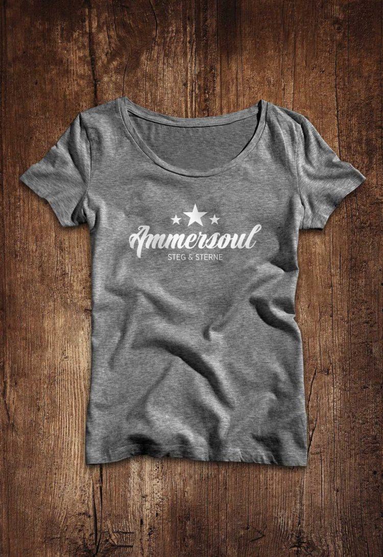 Ammersee Ammersoul T-shirt Damen Dunkelgrau